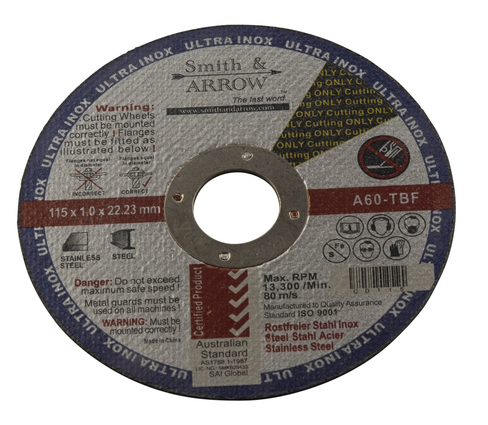 Cutting Disc 4.5 Inch Steel